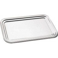 PLAT COCKTAIL METAL CHROME RECTANGULAIRE 41X31CM