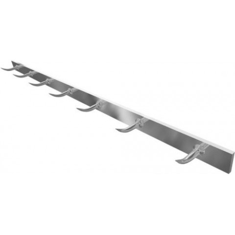 BARRE A DENTS DE LOUP INOX 30X6MM 1,5M